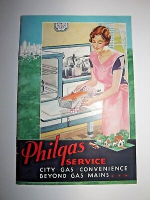 """1932 Philgas """"Philips Petroleum"""" Brochure Softcover Booklet 15 Pages Illustrated"""
