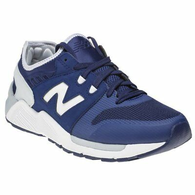 super popular 18b24 fe941 New Mens New Balance Navy 009 Nylon Trainers Retro Lace Up
