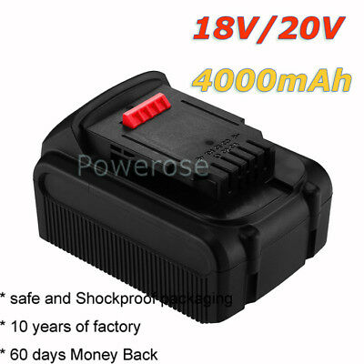 20V 4000mAh XR Li-ion Slide Battery Pack For DeWalt DCB200 DCB181 DCD785 DCS391