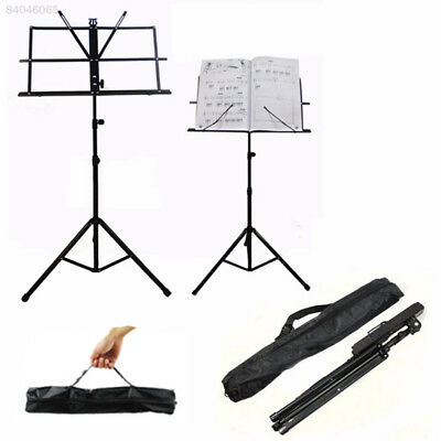 1B2A Portable Metal Folding Music Sheet Stand Foldable Holder with Carrying Bag