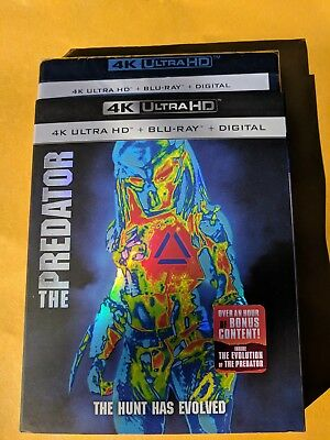 New The Predator 2018 4k ULTRA HD & Blu-ray NO DIGITAL action/sci fi movie
