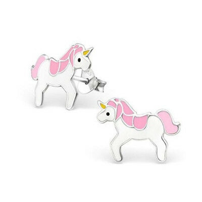 Zinc Alloy Colorful Pony Stud Earrings Fashion Jewelry Gift Animal Lover LD
