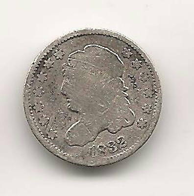 1832 Capped Bust Half Dime : Very Good