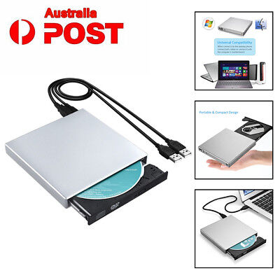 Portable External USB 2.0 DVD CD-R Drive Recorder Burner CD Writer  Computer AU