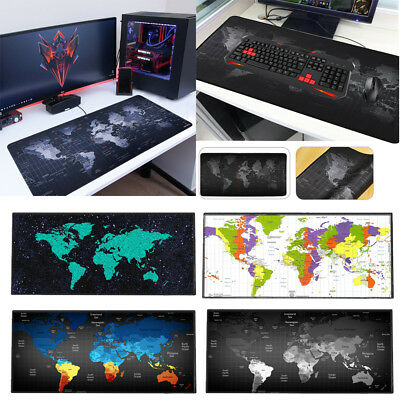 Extended Gaming Mouse Pad Portable Large Desk Pad Non-slip Rubber Mat World Map