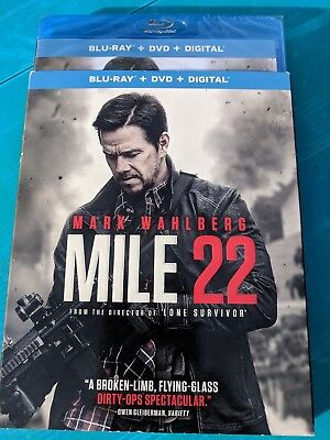 NEW Mile 22 Blu-ray & DVD NO DIGITAL BLUERAY bluray disc action/suspense/ movie