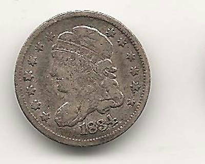 1834 Capped Bust Half Dime : Fine