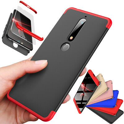 360° Full PC Case Heavy Duty Shockproof Bumper Cover For Nokia 6.1 /6 2018 / 7+