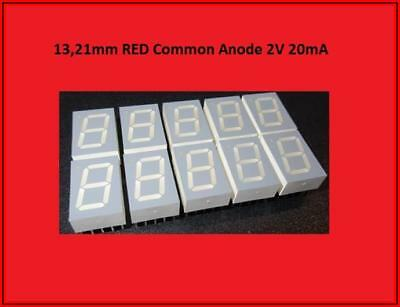 HDSP-C5E1 LED Display Anzeige 7 Segment 1 Digit Common Anode Rot  10x