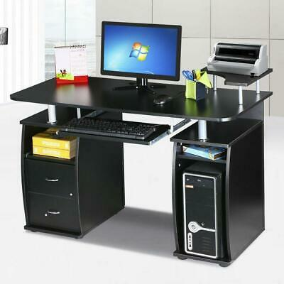 Computer Desk PC Laptop Writing Table Workstation Student Study Furniture Black