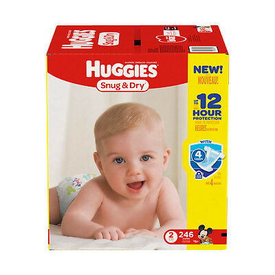 Huggies Snug & Dry Baby Diapers Disposable Diapers Size 2 ( 246 CT )