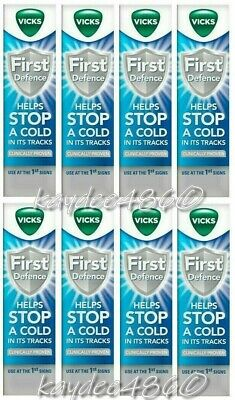 4 x Vicks 15ml First Defence Nasal Spray - Helps Stop Colds Proven (Total 60ml)