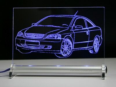 LED-Leuchtschild graviert ist  Opel Coupe  AutoGravur Astra G Coupe