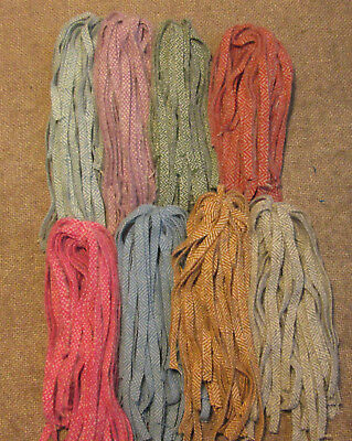 Mixed Herring Bone Textures 200 Hand and Mill dyed  #8 Rug Hooking Wool Strips