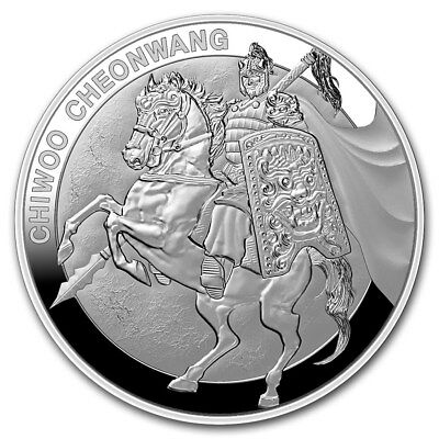 1 Clay Chiwoo Cheonwang Proof South Korea Südkorea 1 oz Silber PP 2017