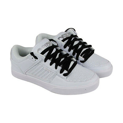 Osiris Protocol Mens White Leather Athletic Lace Up Skate Shoes