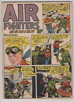 Air Fighters Comics Vl. 2 #3 Fn Condition 1943 Golden Age Airboy!