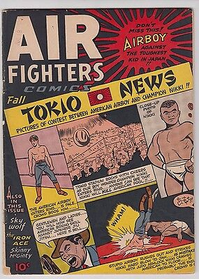 Air Fighters Comics Vl. 2 #10 1945  Fn/fn+ Condition Golden Age Airboy!