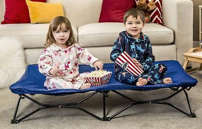 Regalo Travel Bed My Cot Portable Toddler Bed Sleeping Camping Kid Royal Blue