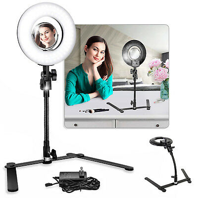 "8"" LED Ring Light with Stand Dimmable LED Lighting Kit For Makeup Youtube Live"