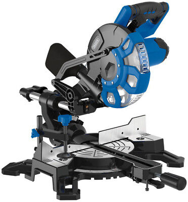 210Mm Sliding Compound Mitre Saw With Laser Cutting Guide (1500W) Draper 83677