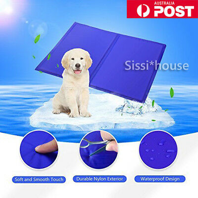 FAST POST Pet Cool Gel Mat Dog Cat Bed Non-Toxic Cooling Dog Summer Pad 7 Sizes