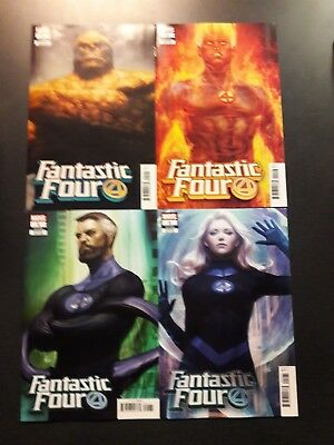 FANTASTIC FOUR #1 SET OF 4 Variants 2018 Marvel Comic Book NM First Print @