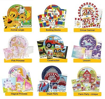 Children's BIRTHDAY PARTY RANGES - Kid Tableware Balloons Banners & Decorations