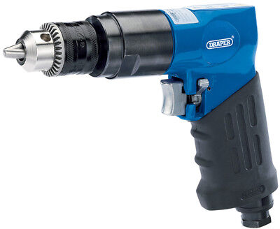 Reversible Air Drill With 10Mm Geared Chuck Draper 28829