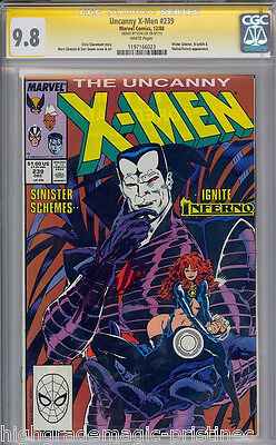 Uncanny X-Men #239 Cgc 9.8 White Ss Stan Lee Signed Sig Series Cgc #1197166023