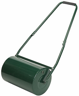 Draper Garden Lawn Roller 500Mm Heavy Duty Steel Grass Green Water Sand Filled