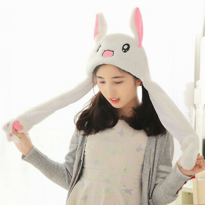 Cute Rabbit Ear Hat Can Move Airbag Magnet Cap Plush Gift Record Video Dance Toy