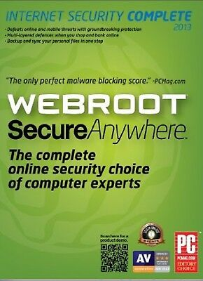 Webroot SecureAnywhere AntiVirus 1 Device GLOBAL Key PC 1 Year