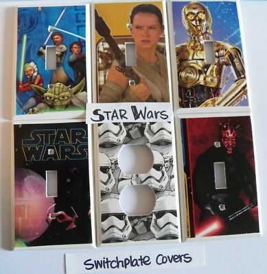 STAR WARS - Switch Plate Cover - Light Switch Cover / Electrical Outlet - NEW