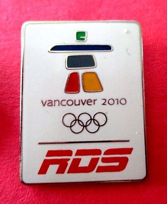 RDS (French Canada TV Station) Vancouver Inukshuk Logo 2010 Media Olympic Pin