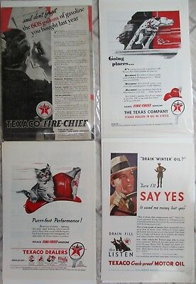 LOT 16 VINTAGE TEXACO STATION ADS ADVERTISING 1930's & UP NATIONAL GEOGRAPHIC