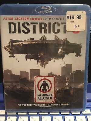 District 9 (Blu-ray Disc, 2009) Brand New & Sealed Fast Free Shipping!