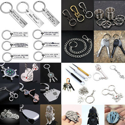 Creative Metal Alloy Keyfob Car Keyring Unisex Keychain Compass Key Chain Ring