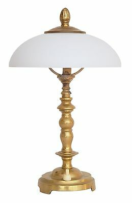 Beautiful Dainty Art Nouveau Shabby Chic Bedside Table Lamp Brass