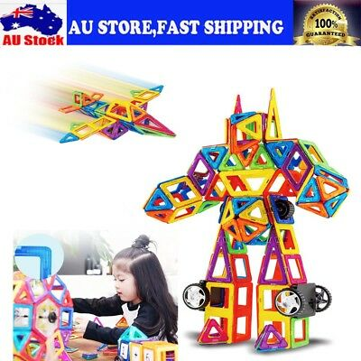 40~234Pcs Magnetic Blocks Building Toys Magnet Tiles Kits Gifts Educational Toy