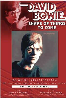 """David Bowie """"Shape Of Things To Come"""" Very Ltd Edt 7"""" Red Vinyl - Presale"""