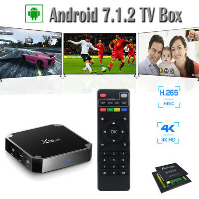 7.1 Android TV Box 4K H.265 Quad Core WIFI Home Network Media Player 1GB 2GB RAM