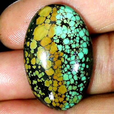 59.40 Cts 100% Natural Tibet Turquoise Oval Cabochon Loose Gemstones 24X37X7 MM
