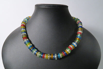 Krobo Recycling Glasperlen Spacer AA010 Glass Beads Perles Ghana Afrozip