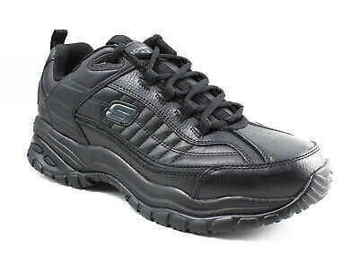 Skechers Mens Galley Black Occupational Shoes Size 10.5 (42380)