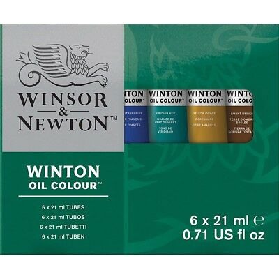 Winsor and Newton Winton Oil Colours 6-Tube Set  - 0.71 Oz., 6-Tube Set