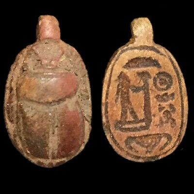 Beautiful Ancient Egyptian Scarab Amulet 300 Bc (3)