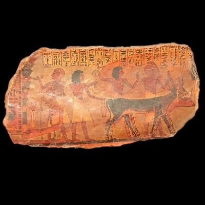 Very Rare Ancient Egyptian Plaque Late Period 664 - 332 Bc