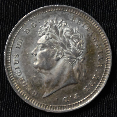 1828 Great Britain, George Iv Maundy 2 Pence, Km 684, About Uncirculated
