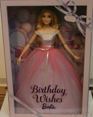2017 Birthday Wishes Barbie Doll DVP49 IN STOCK NOW